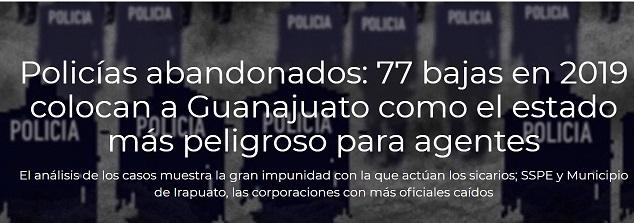 Policías Caídos en Guanajuato