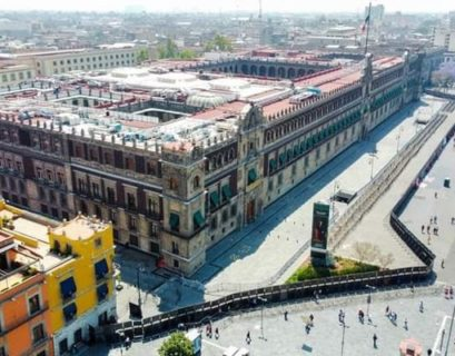 """Palacio Nacional fue """"amurallado"""""""