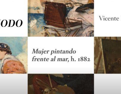 Pintor carlista y mujer pintando
